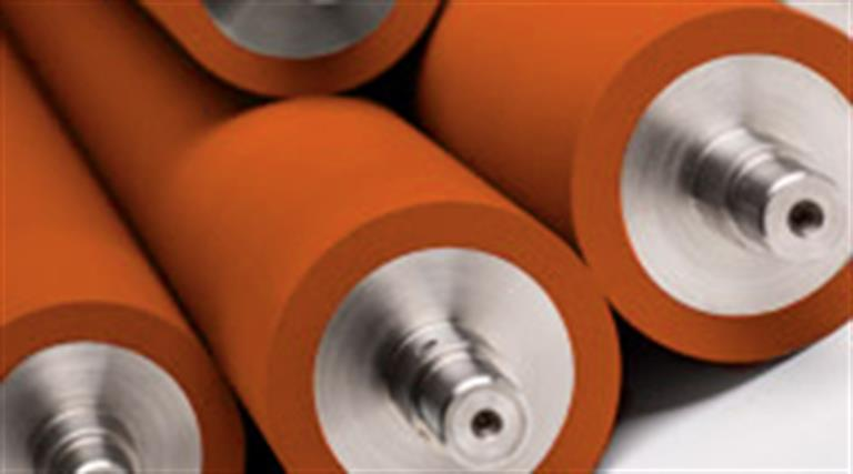 KV Rollers produces industrial rubber rollers and printing